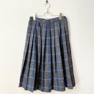 ユーロ AUSTRIA製  チェック柄 プリーツスカート ヨーロッパ古着 日本L