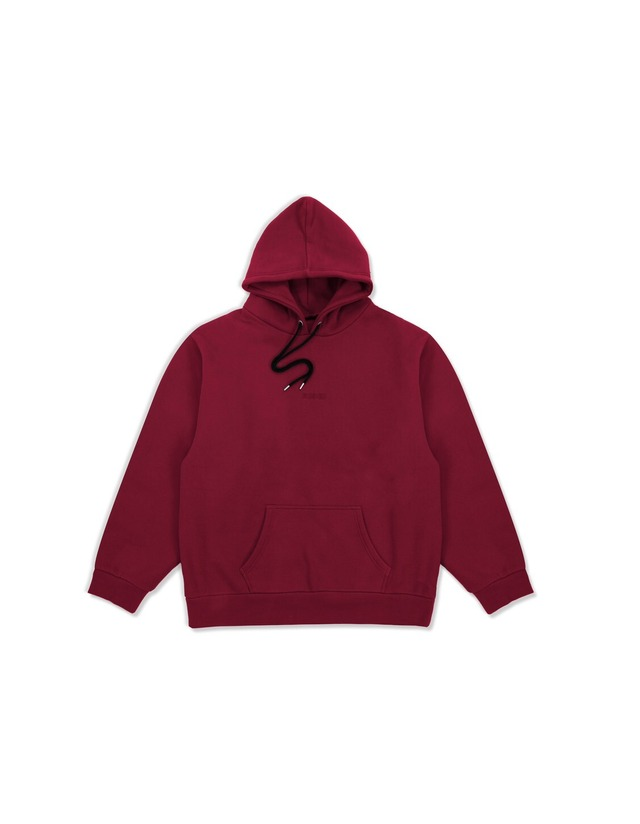 XENO SMALL LOGO ESSENTIAL HOODIE Red
