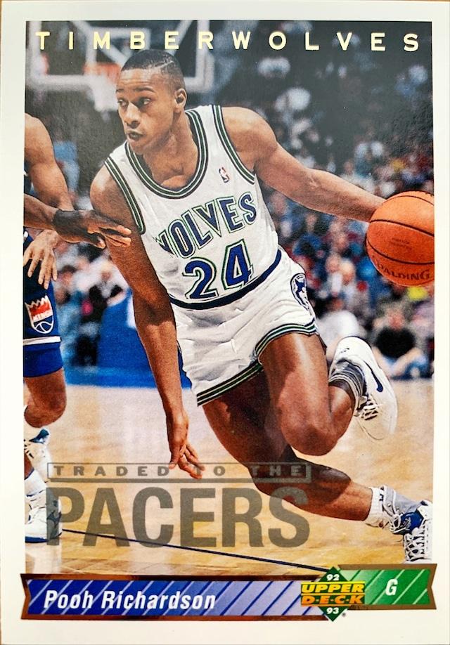 NBAカード 92-93UPPERDECK Pooh Richardson #134 TIMBERWOLVES