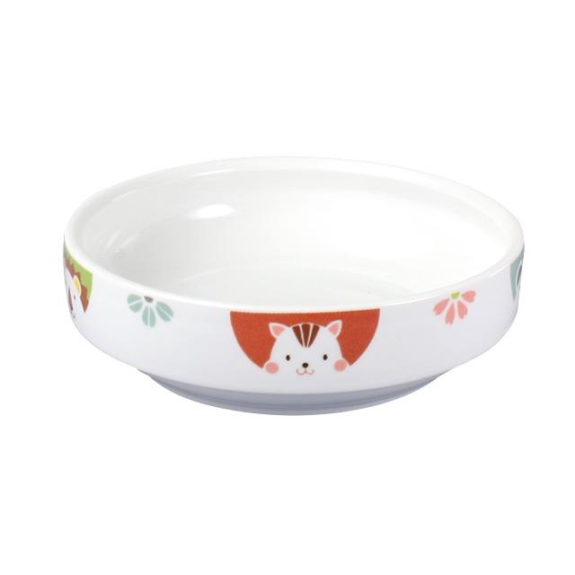 強化磁器 14.5cm すくいやすい食器 かくれんぼ【1714-1370】