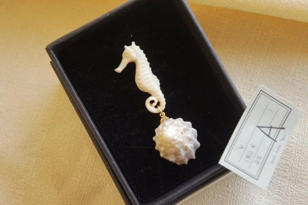 海の生物と貝殻「銀河」(タツノオトシゴ)
