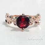 大人気☆D011 送料無料 レディース 指輪 薔薇デザイン ローズゴールドリング