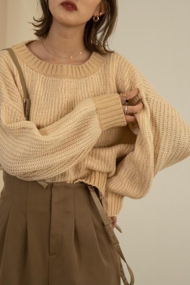 crew neck jacquard knit