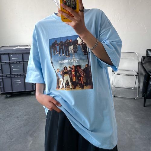 ポップフォトプリントTシャツ BL8206