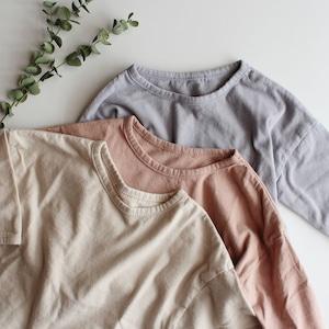 くすみT baby (indi pink/beige/purple)(S/M/L)  ※メール便可