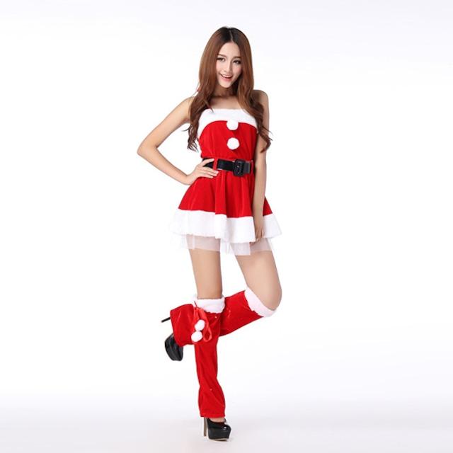 クリスマス サンタコスチューム レディース クリスマス衣装 サンタコスプレ