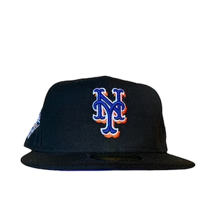 NEW ERA New York Mets 2000 World Series 59Fifty Fitted / Black×Blue (Blue Brim)