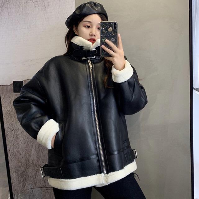 【アウター】ファッション長袖スタンドネックジッパーコート42920234