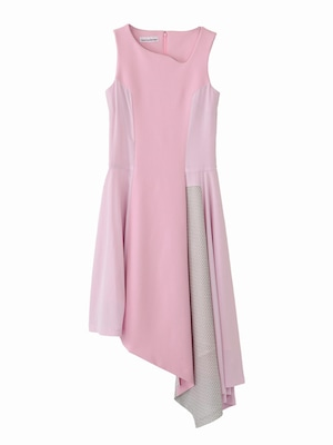 No sleeves handkerchief dress  / pink × lace / S16DR06