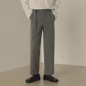 Hang belt straight pants   b-436
