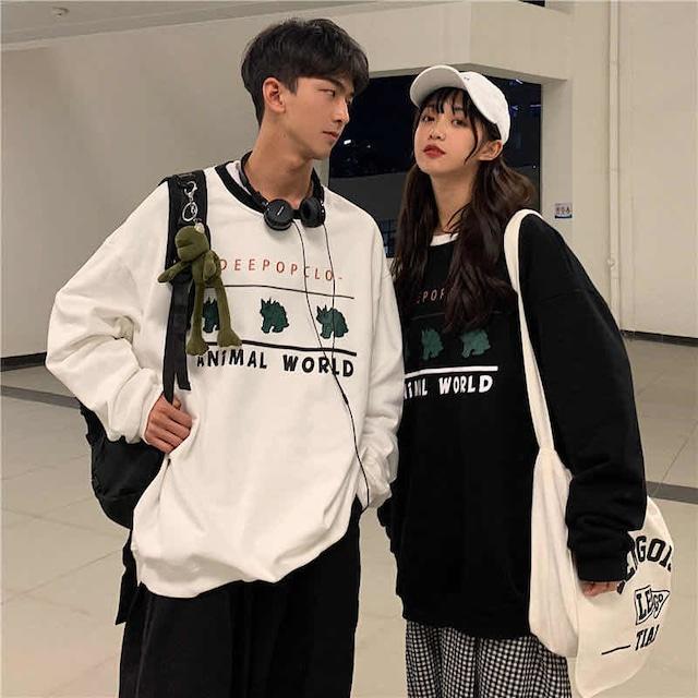 【メンズファッション】着回し力抜群 おしゃれ度アップ 長袖 プリント ファッション 韓国系 カップルコーデ トレーナー51825507