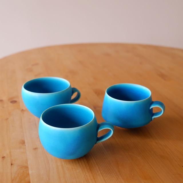 トルコ青マグカップ3種(小)琉球工藝