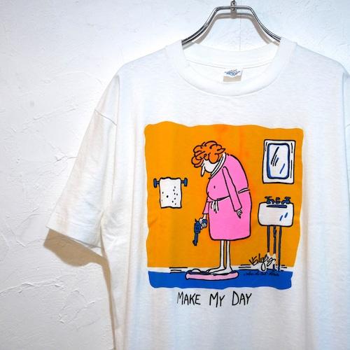 【bunta様用】90s スクエアプリント コミック Tシャツ 半袖