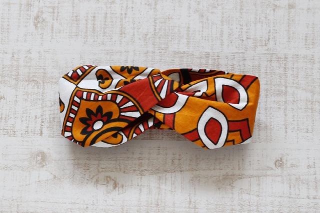 カンガのヘアターバン|幅広ボリューム / アフリカ布ターバン