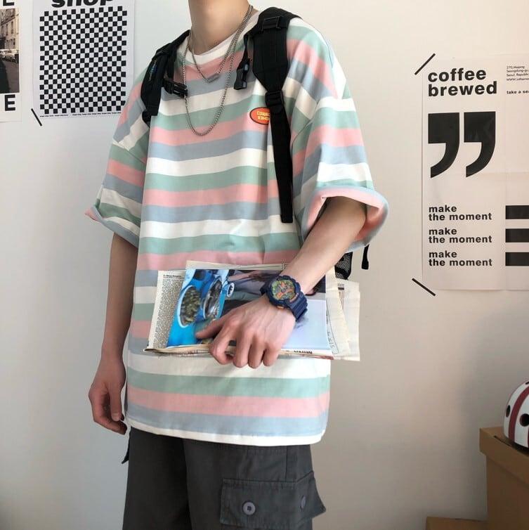 カラーボーダーTシャツ YH7887