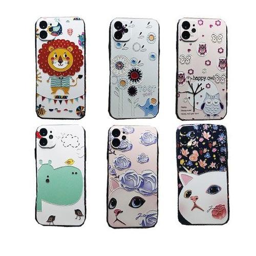 予約 スマホケース iPhoneケース アイフォンケース アニマル 動物 携帯ケース スマホ ケース 猫 猫柄 猫雑貨 猫グッズ 可愛い ゾウ ぞう カバ かば フクロウ ふくろう どうぶつ iPhone12 iPhone11 iPhoneX iPhone8 iPhone7 iPhone6 h1030
