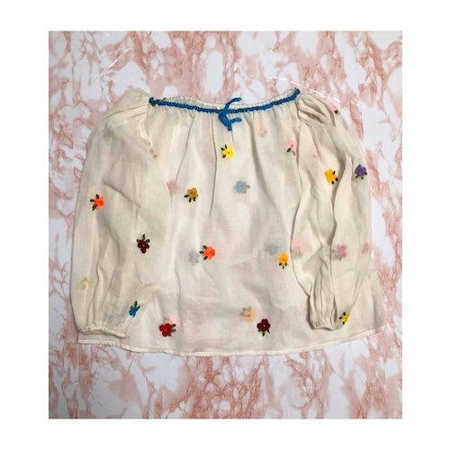 colorful flower embroidery  tunic