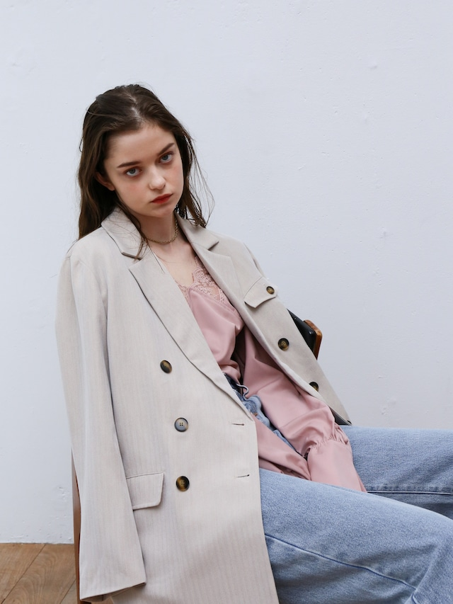 double-breasted jacket(beige)