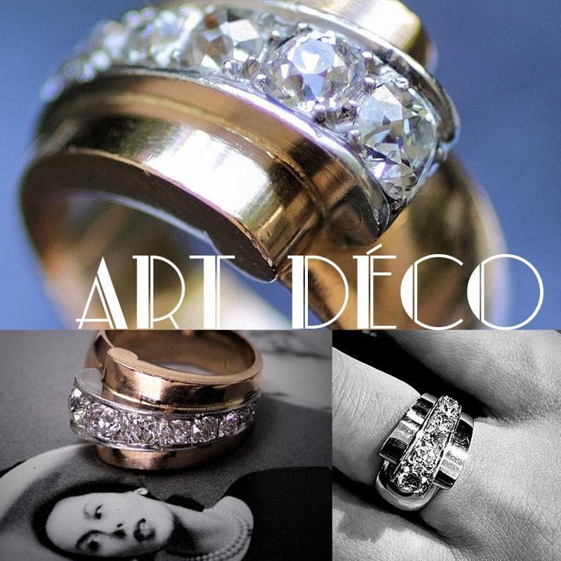 Art Deco Diamond & Gold Ring アールデコ ダイヤモンド&ゴールドリング