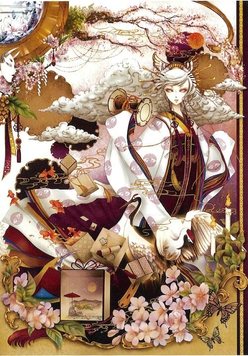 オリジナルウォールステッカー【桜乃箱庭 〜光〜 】B4 / yuki*Mami