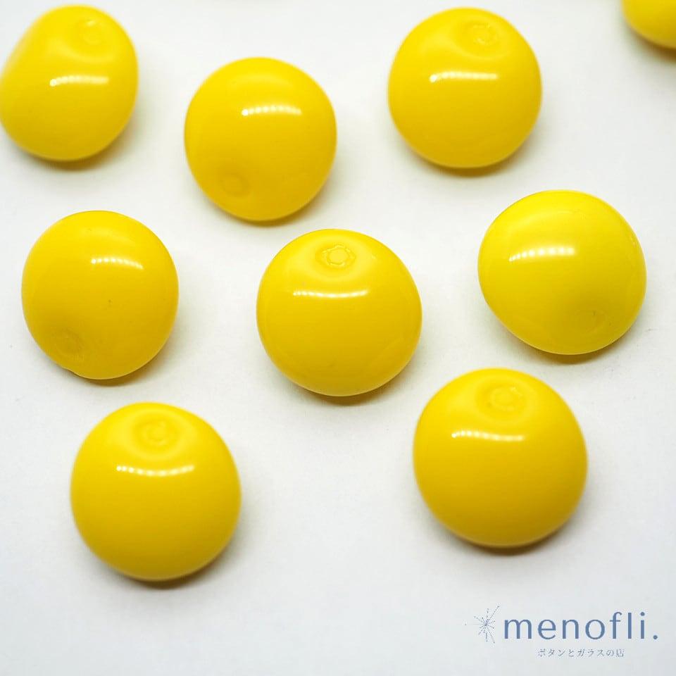 黄色 フルーツ・野菜デザイン ヴィンテージボタン チェコガラスボタン BP0707 20201206