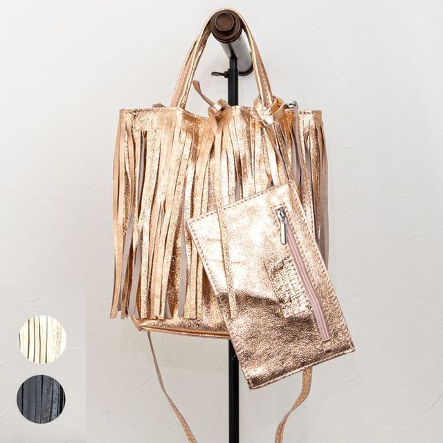 【MARLON FIRENZE/マーロンフィレンツェ】2wayフリンジレザーバッグ