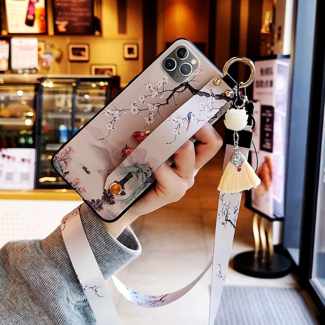 【YOUPINシリーズ】★チャイナ風携帯ケース★2color選択可能 iPhone 12 12mini 12Pro 12ProMax 可愛い