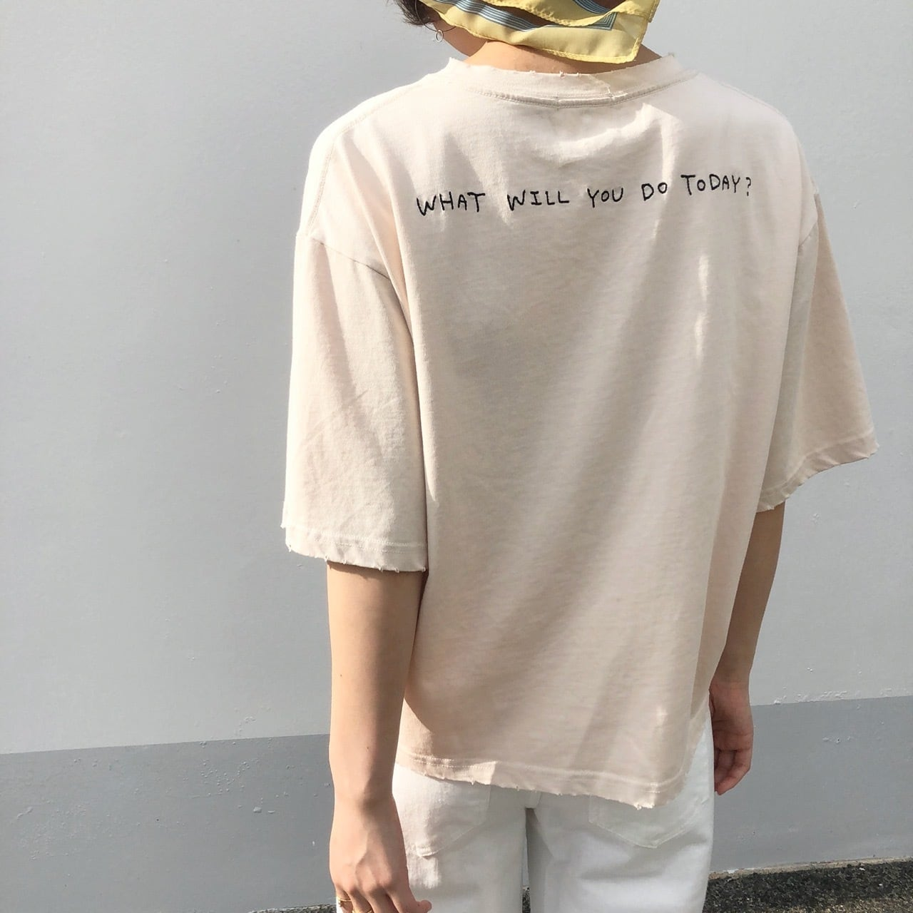 【 CLEIO 】- 948-13629 - ダメージ刺繍ポケットT
