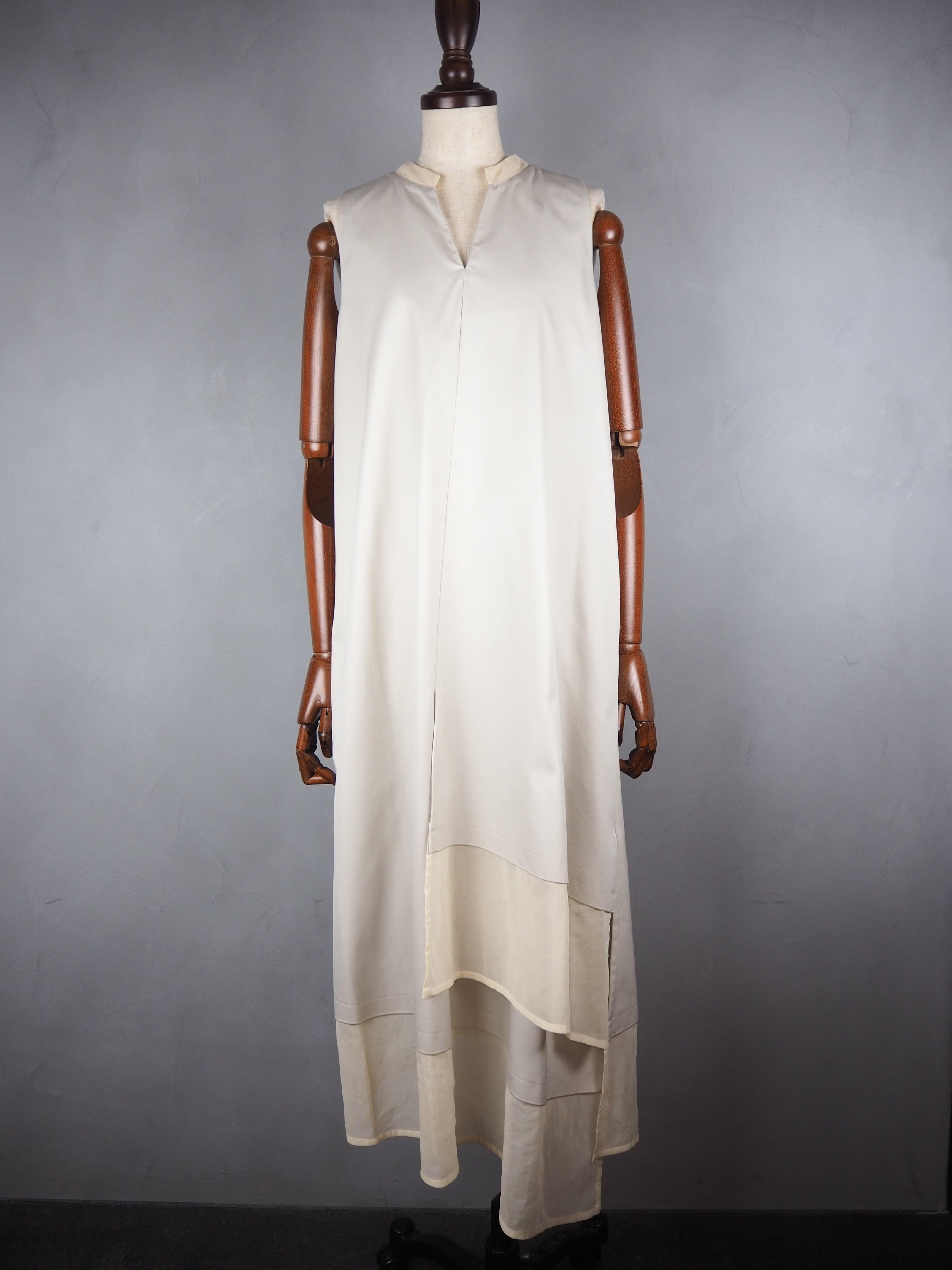 【ELIN】GABA/ORGANZA COMBI DRESS