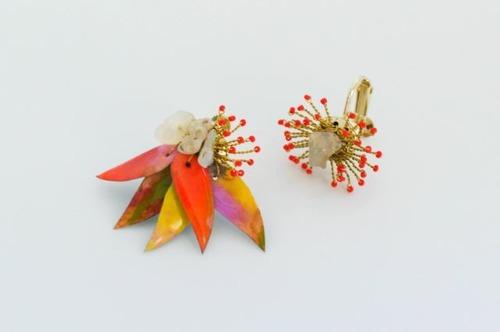 MADE BY NAO イヤリング珊瑚(MBN-ES01 オレンジ)