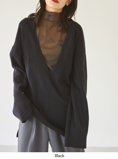 TODAYFUL (トゥデイフル) Washed Vneck Knit 21秋冬【12120504】