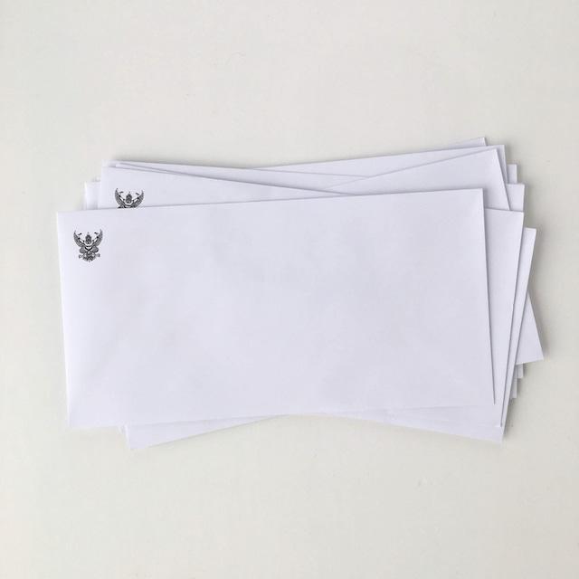 タイの白い封筒 洋型長6号(10枚セット)|White Envelope of Thai(Set of 10)