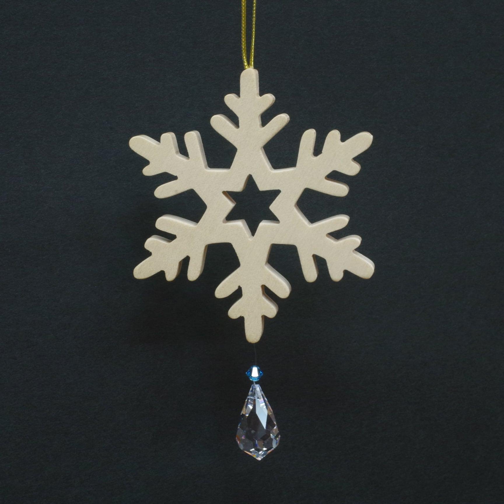 オーナメント 雪の結晶とクリスタル