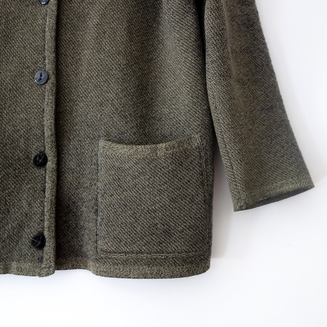 """【MADE IN FRANCE】FILEUSE D'ARVOR カーキニット """"CARDIGAN TRICOT"""""""