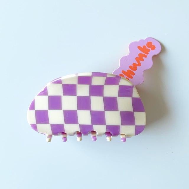"Chunks ""Large Claw"" Lavender/Whiteチャンクス バンスクリップ・ヘアピン"