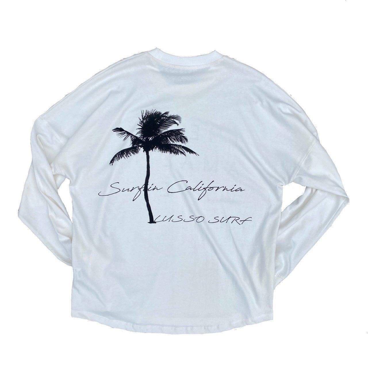 Palm tree Long sleeve Tee【White】