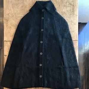 FUMIETANAKA F20A-04silk mohair poncho color black size36