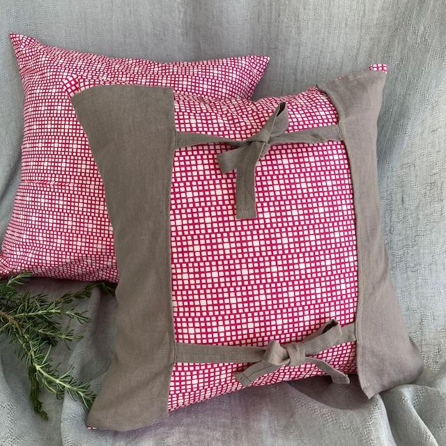 リトアニア産リネン使用 ハンドメイド 枕カバー あずき色 国産