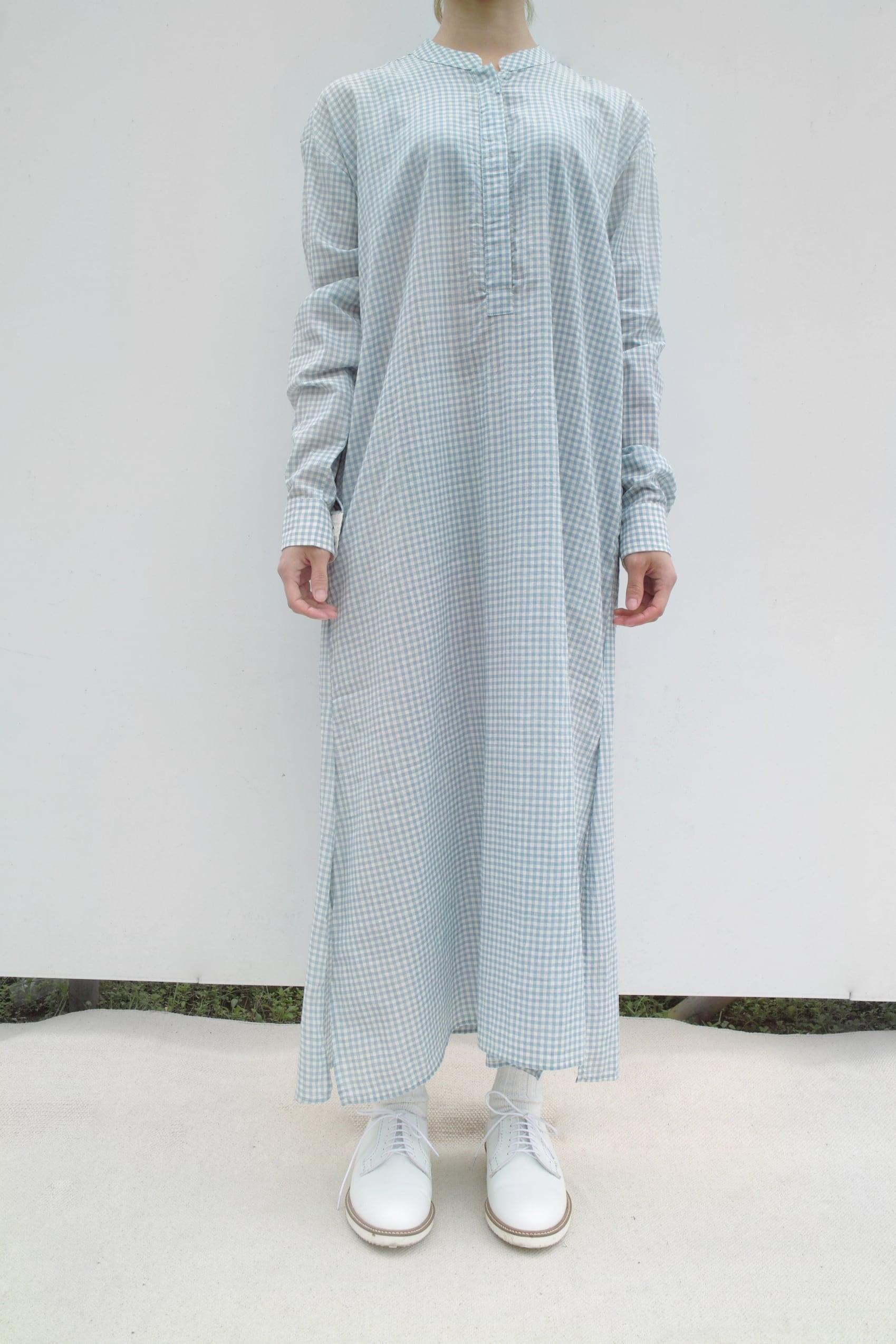"Long Sleeve Shirt Dress ""blue gingham check"""