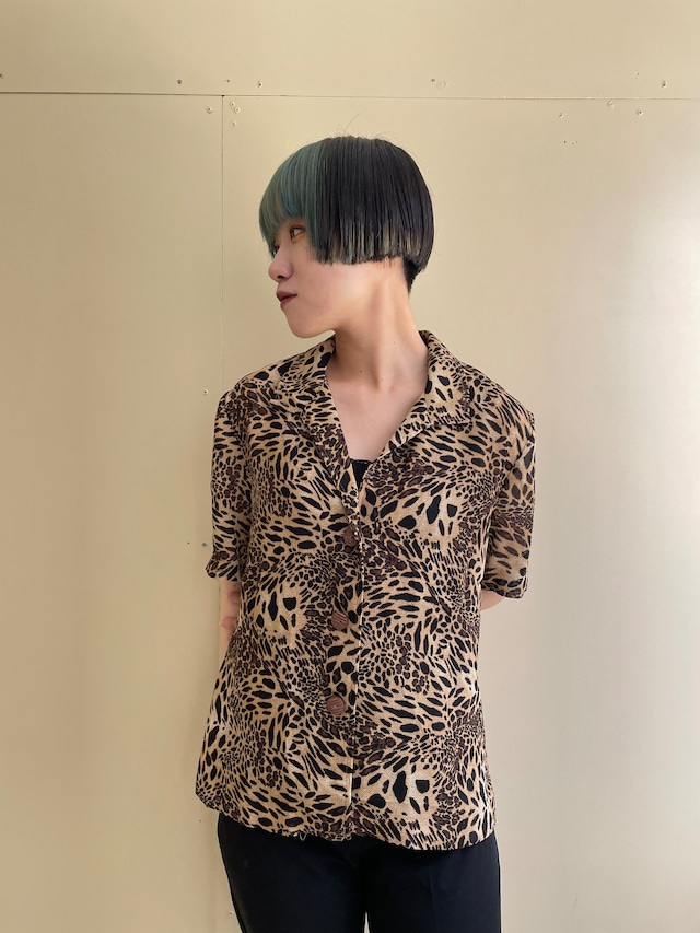 leopard shirt / 7SSTP25-01