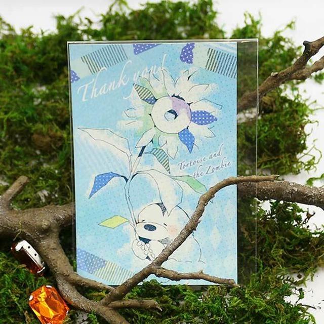 ゾンビとカメ ポストカード(青)