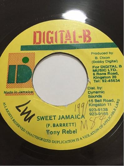 Tony Rebel (トニーレベル) - Sweet Jamaica【7'】