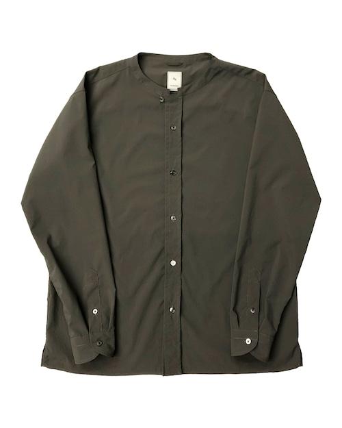 PE BAND COLLAR SHIRT / PEバンドカラーシャツ (GRY)