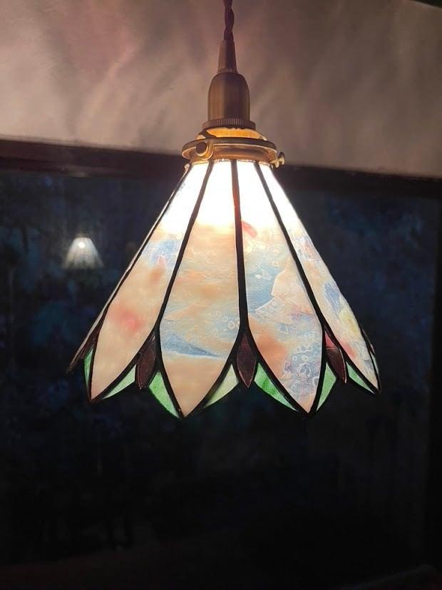 春あけぼの(ステンドグラスの吊りランプ)(ペンダントライト) 01010058