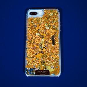 ARTiFY iPhone 6plus/6splus/7plus/8plus グリッターケース クリムト 生命の樹 ゴールド  AJ00440