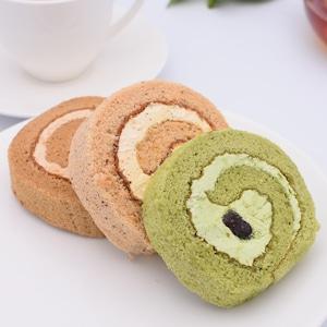 【冷凍便・送料別途】ロールケーキ3種詰合せ(コーヒーロール・抹茶ロール・紅茶ロール)10個入