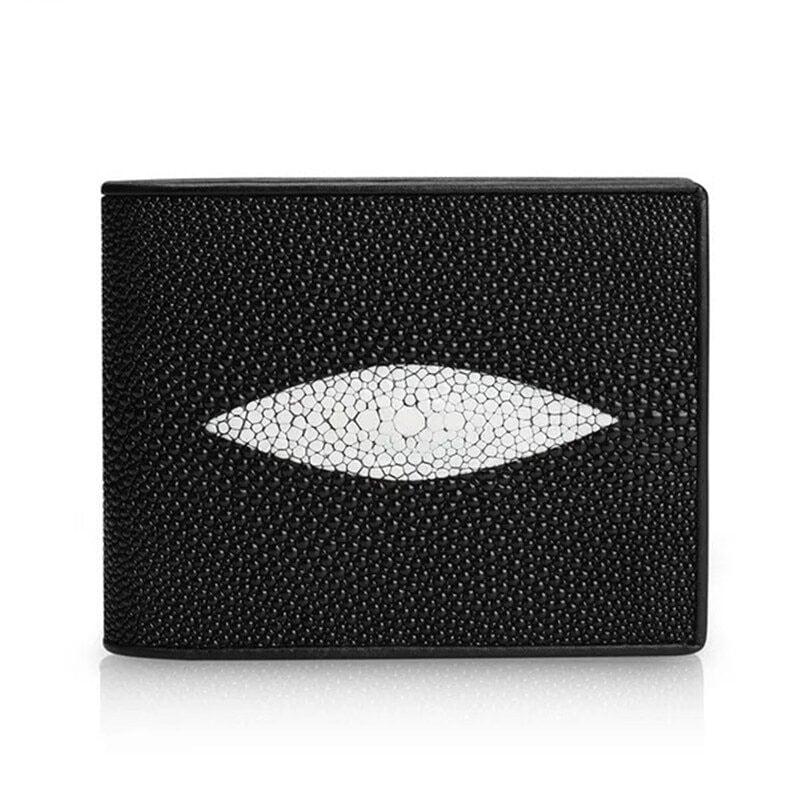 【エイ革財布】ユニセックス 二つ折り財布 スティングレイ【金運アップ】