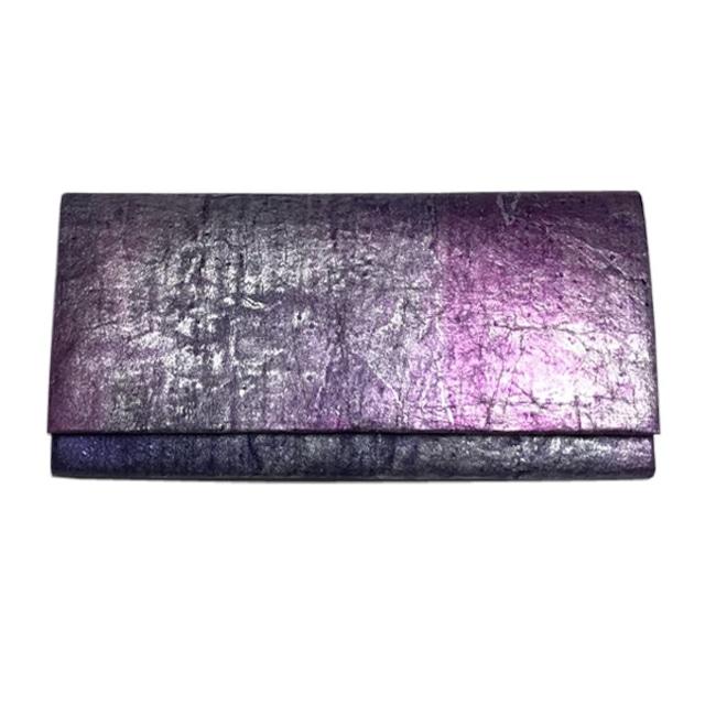 黒谷和紙の長財布【紫陽花】