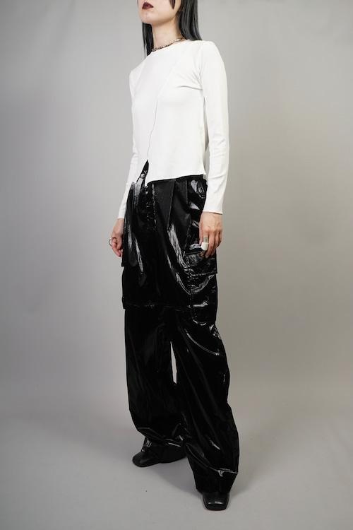 GLOSS CARGO WIDE PANTS (BLACK) 2109-25-45