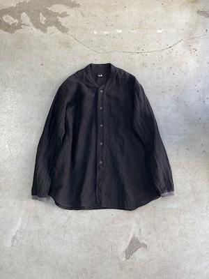 DA'S / New Baseball Shirt/sepia(ダズのニューベースボールシャツ(前開き) スミクロ)